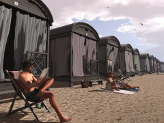 Second Life beach cottage