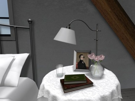 Romantic bedside table