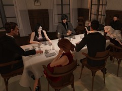 second life dinner party table