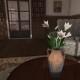Mesh art deco vase with lilies