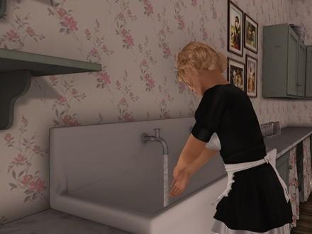 linen room cabinets wash hands