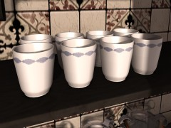 porcelain milk cups