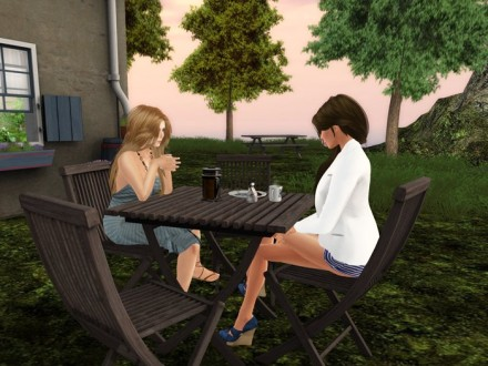 second life mesh garden set