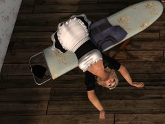 ironing board with dancing maid