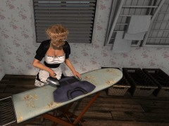 Second Life ironing board ironing