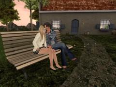 second life outdoor furniture bench gossip