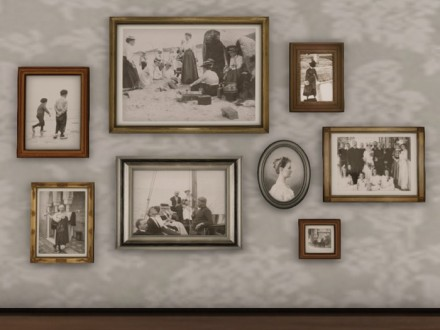 Framed dutch photos in an antique frames