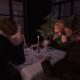 Second Life bistro table espresso