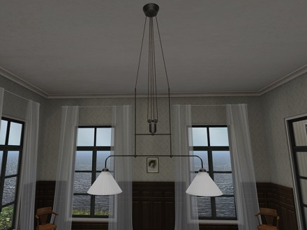 mesh-model-antique_double_ceiling_lamp