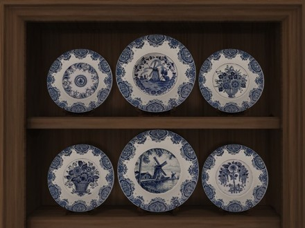 dutch delft blue plates