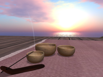tibetan singing bowls and incense