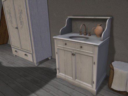 white sink console