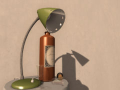 second_life_furniture_desk_lamp_green