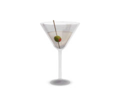second life decor 3D model martini glass