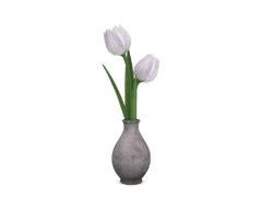 second life decor 3D model mesh flowers tulips in vase