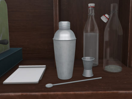 mesh-cocktail-shaker-jigger-spoon-set