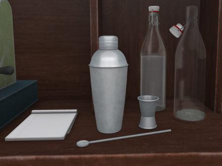 mesh-cocktail-shaker-jigger-spoon-set