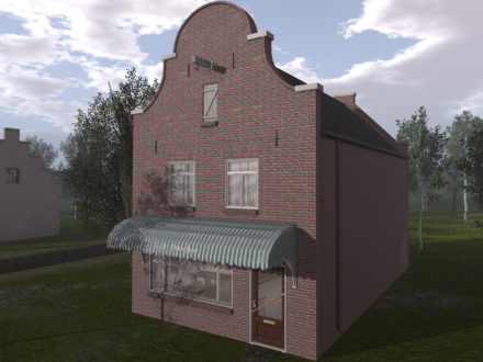 Dutchie Red Brick Cafe Building is a dutch second life cafe